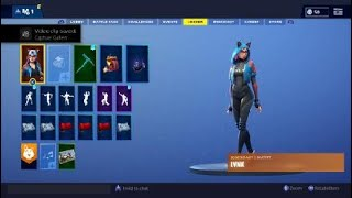 Fortnite showcasing showstopper with my legendary skins