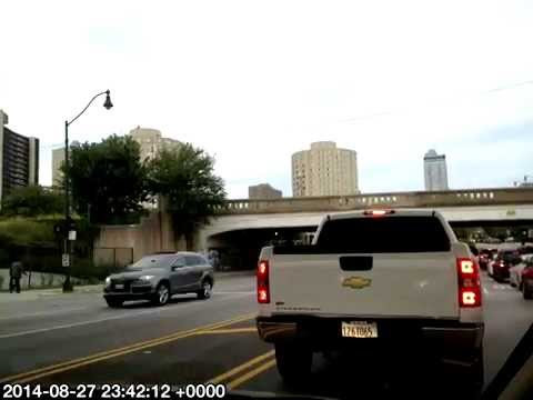 Timelapse Drive Bloomington to Chicago Loop @Catch 35,, to O'Hare Aug-2014