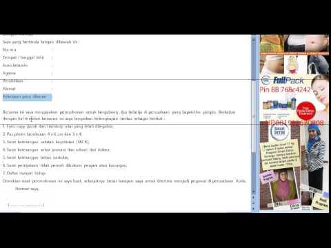Video Surat Lamaran Pekerjaan Youtube
