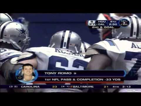 Tony Romo's First Official Pass In The Nfl Called By Brad & Charlie