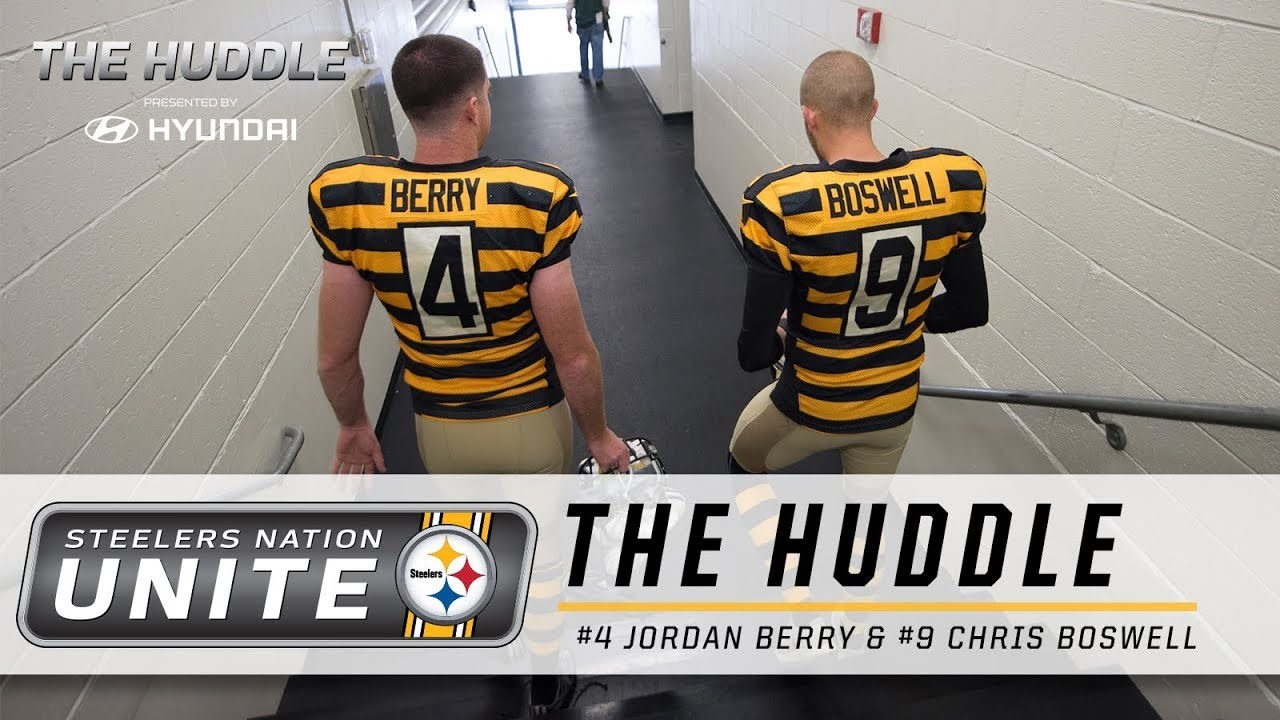 The Huddle  Jordan Berry and Chris Boswell. Pittsburgh Steelers 7dfe552c7