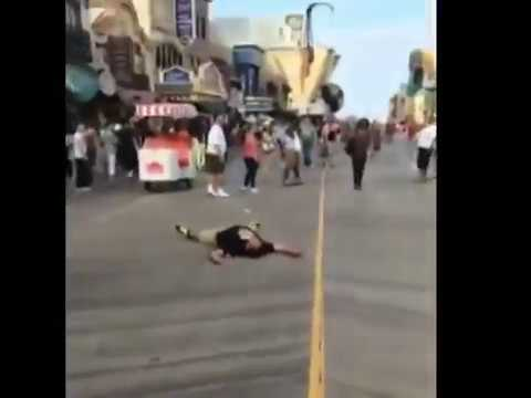 Drunk Bully Gets Knocked Out In One Punch On Atlantic City Boardwalk