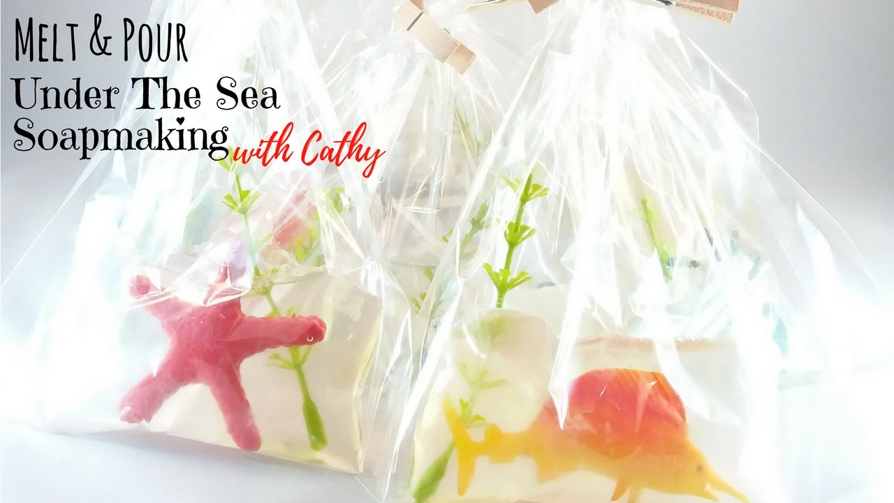 050 Under the sea party favors / door gift soap making DIY easy soapmaking  how to for beginners