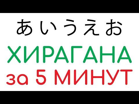 Хирагана за 5 минут. Уроки японского языка бесплатно