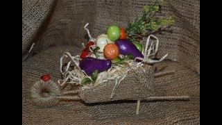 Тачка с урожаем ! - autumn crafts - осенняя поделка своими руками