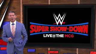 Vince McMahon is proud to make history in Australia with WWE Super Show-Down