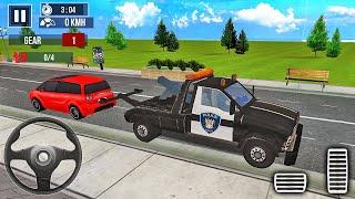 경찰 견인 트럭 운전 자동차 운송업자 2020-Android 게임 플레이