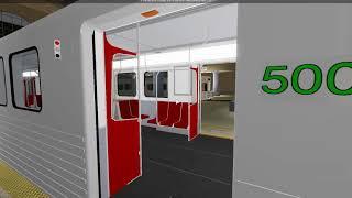 TTA New Train Showcase - Unité Bombardier T1 (Roblox) #5000-5001