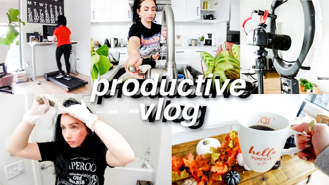 PRODUCTIVE VLOG // clean with me, work, decorating for fall, getting ready to move!
