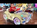 Funny baby cute playing indoor playground with many toys and nursery rhymes songs for babies
