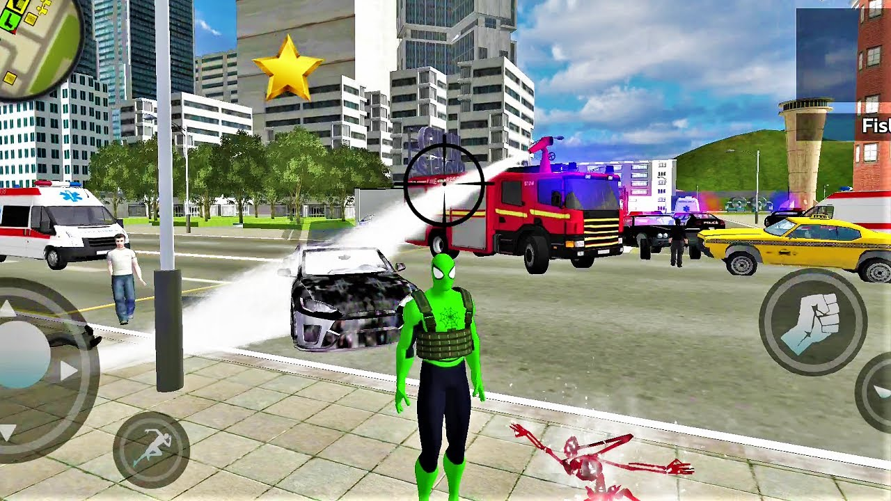 Spider Rope Hero: Ninja Gangster Crime Vegas City- Best Android IOS Gameplay