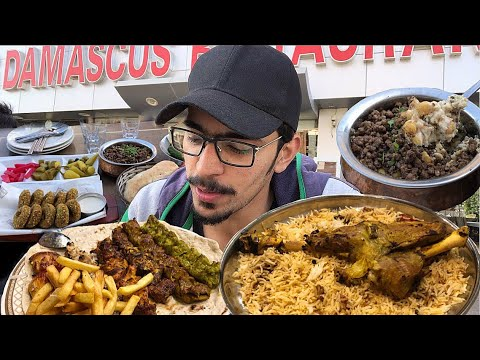 DUBAI FOOD HEAVEN - Most Famous KEBABS + Zafran Rice With LAMB In UAE !!