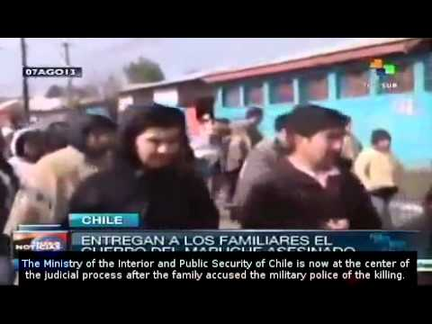 Chile: Health Service delivers Rodrigo Melinao's body to his family