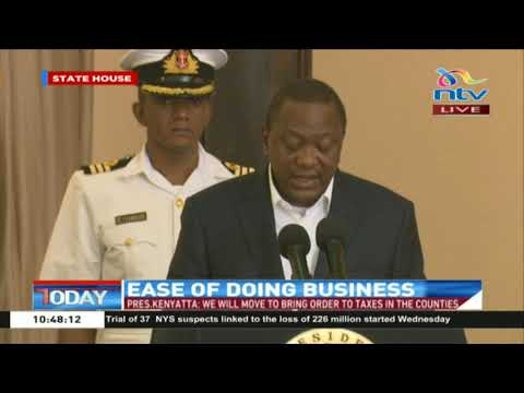 Of 1.5m property owners in Nairobi, only 150,000 are paying dues: President Kenyatta