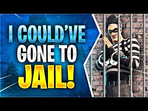 I COULDVE GONE TO JAIL! (Fortnite Battle Royale)