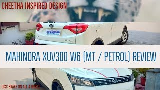 #SUV #XUV300 #mahindra #w6  XUV300 W6 petrol MT variant white color review (Desi)