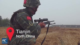 Armed police training in N China