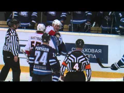 KHL Fight: Max Rybin VS Filip Novak