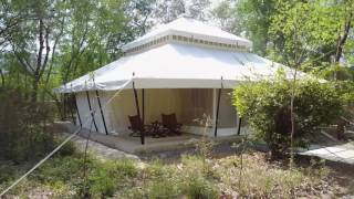 Aman-i-Khas review of luxury tented camp in Ranthambhore Drone Video