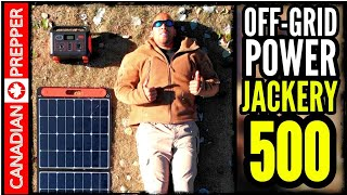 Plug and Play Off-Grid Solar Power System: Jackery 500