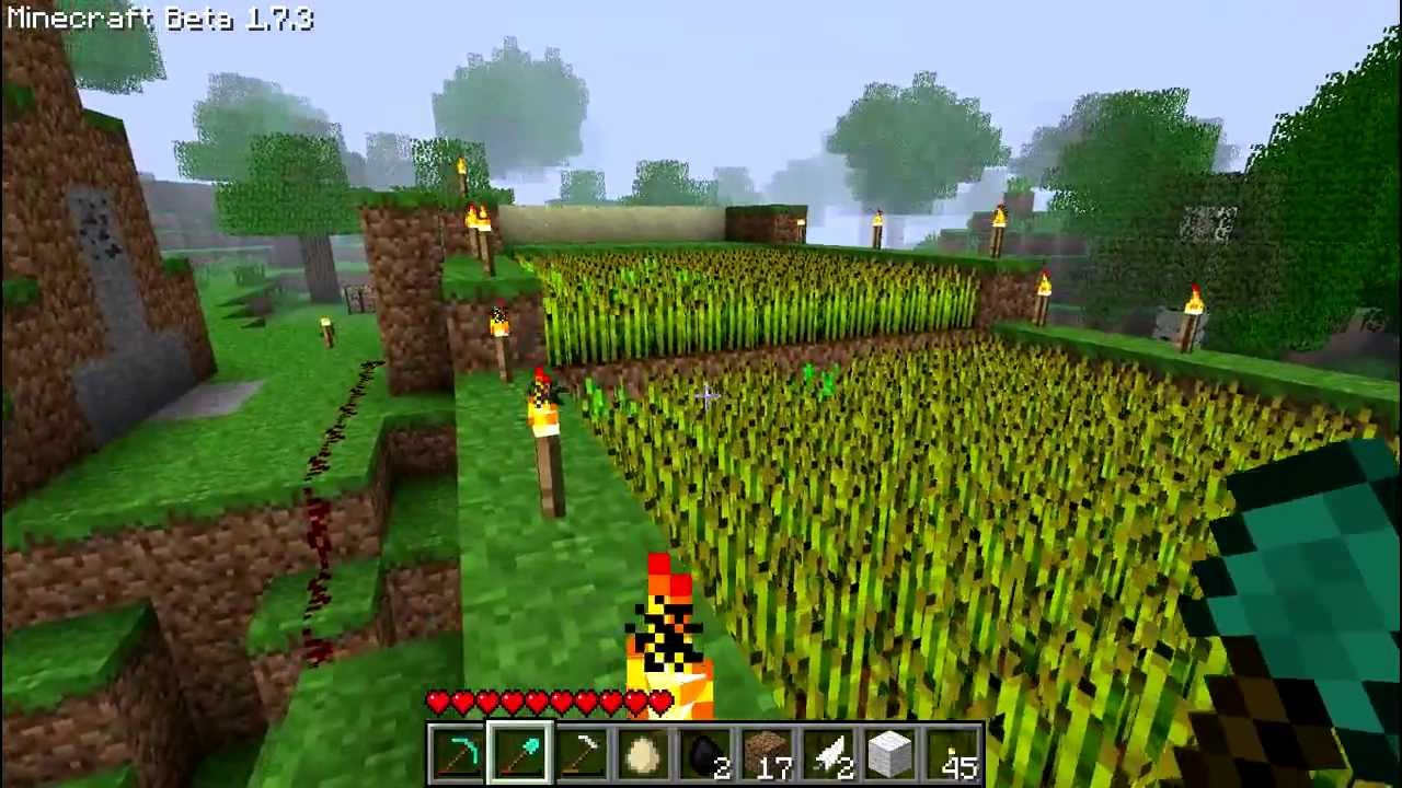 Minecraft  Wheat Farm With Automatic Crop Harvesting  Simple Design