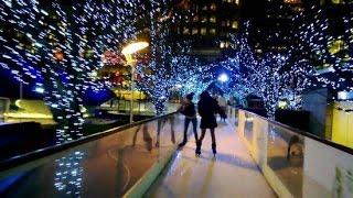Christmas lights 2016 London Canary Wharf