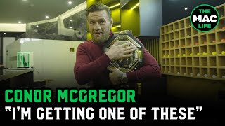 Conor McGregor talks to young fighters; Targets new UFC belt