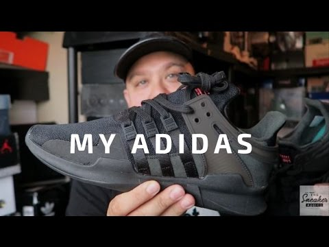 f5eb191b8a76b adidas Originals EQT Support Shoe On Review On Feet  MYaDIDAS - YouTube