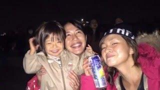 奥山佳恵ママと稲葉功二郎パパとお子ちゃま2人と僕。 ジングルベルに熊...