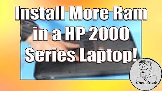 How to Install More RAM in a HP 2000 Series Laptop.
