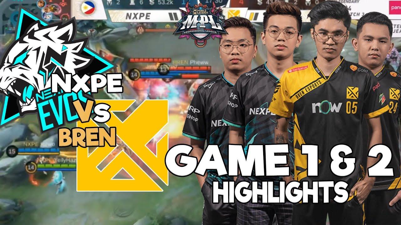 PALAKASAN NALANG MAG TANK |  NXPE vs BREN GAME 1 & 2 HIGHLIGHTS | MPL PH S8