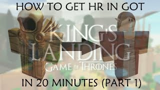 HOW TO GET A HIGH RANK IN ANY GOT GENRE ON ROBLOX IN 20 MINUTES (PART 1)