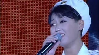 WPKの第68回記念の牡丹峰楽団モランボンと合唱団の合同パフォーマンス「ロング朝鮮労働党ライブ」