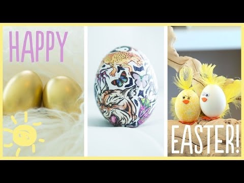 DIY | Awesome (Dye-Free) Easter Egg Decorations!!