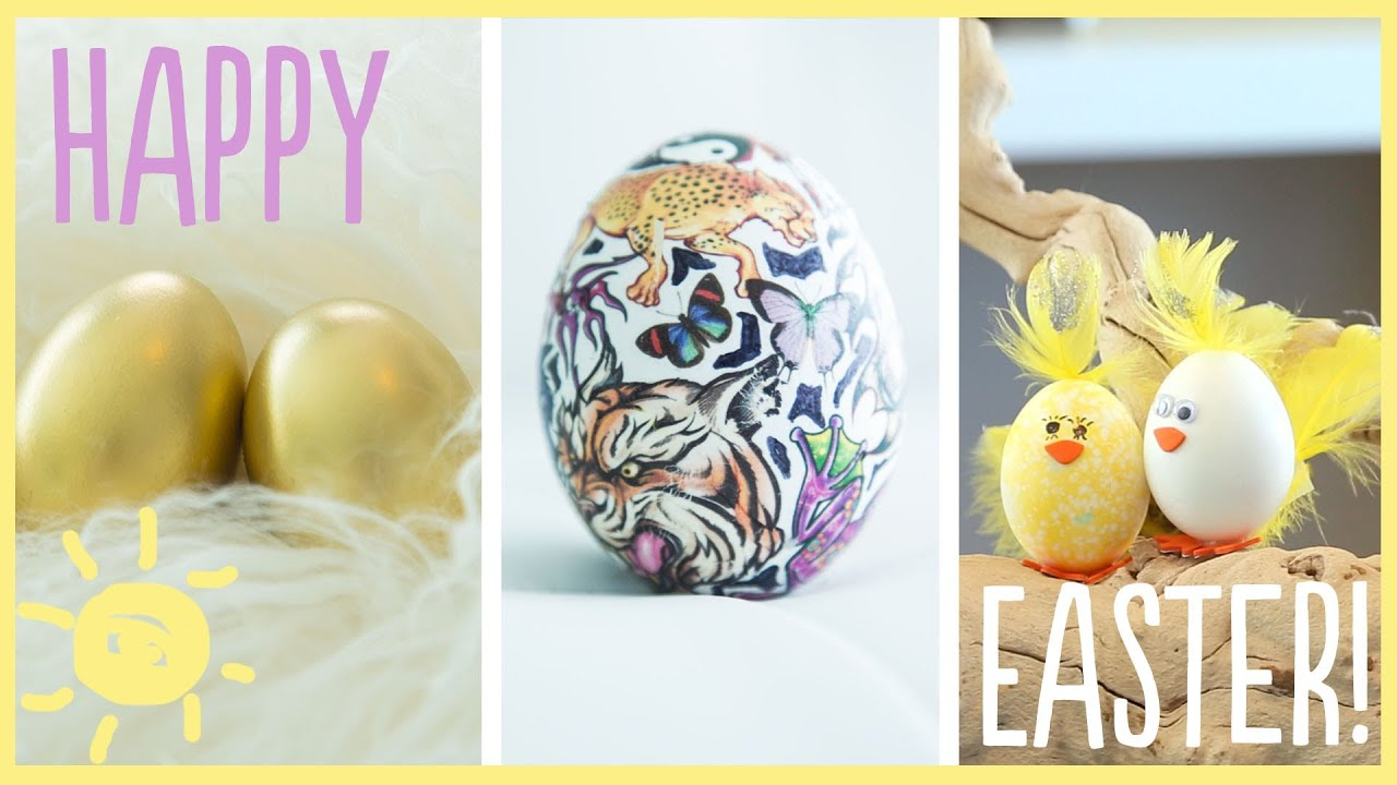 DIY | Awesome (Dye-Free) Easter Egg Decorations!! - YouTube