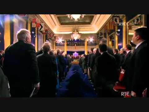 Irish National Anthem at Presidential Inauguration, Dublin Castle