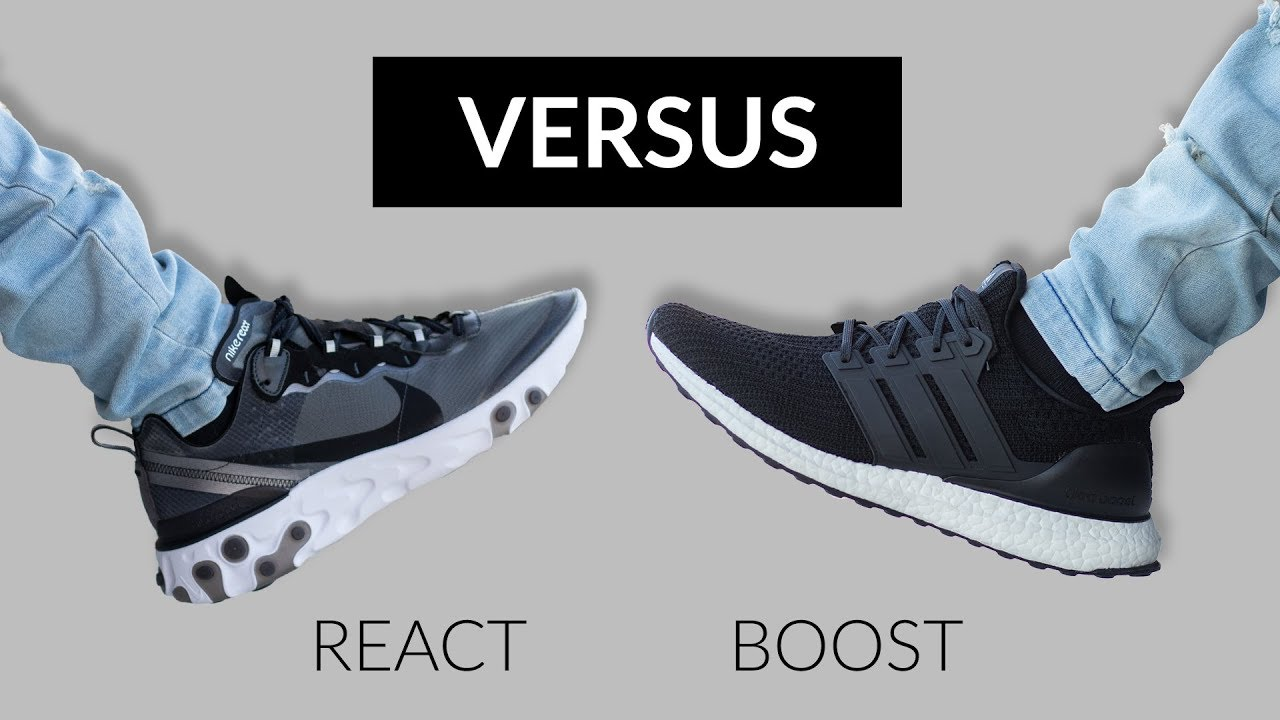 9282042c02e5 Nike React Element 87 vs Adidas Ultra Boost 4.0 - YouTube