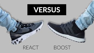 Nike React Element 87 vs Adidas Ultra Boost 4.0