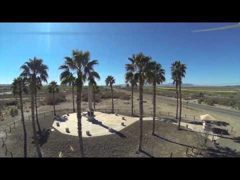 Poston AZ..WWII Japanese Internment Camp Memorial ..Aerial View...Gopro