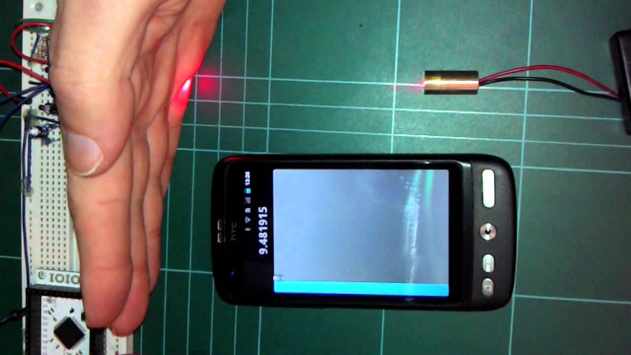 IOIO 1/10 # Analog Input & LDR based Laser Tripwire - YouTube
