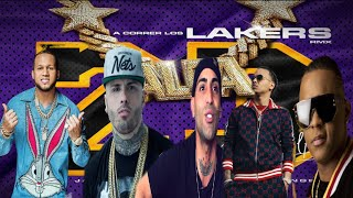 EL ALFA EL JEFE FT NICKY JAM  OZUNA ARCANGEL PAPA SECRETO - A CORRER LOS LAKERS REMIX  (OFFICIAL)