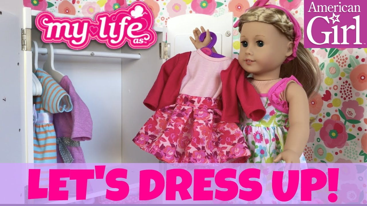 kidcraft lil doll armoire unboxing with american girl doll cute skit with 18 doll - American Girl Doll Armoire