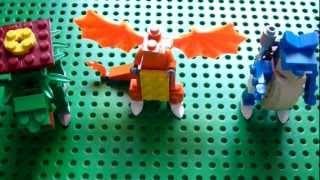 Lego Pokemon + Instructions Part 1 - Venusaur, Charizard, and Blastoise