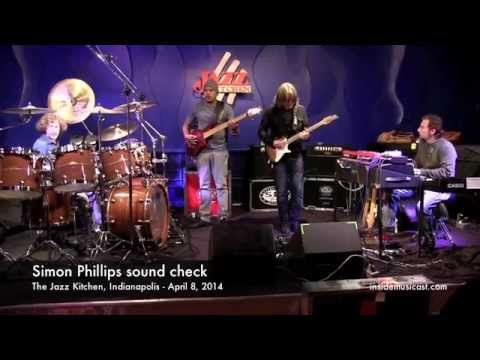 Simon Phillips Sound Check at the Jazz Kitchen in Indianapolis - Part 1