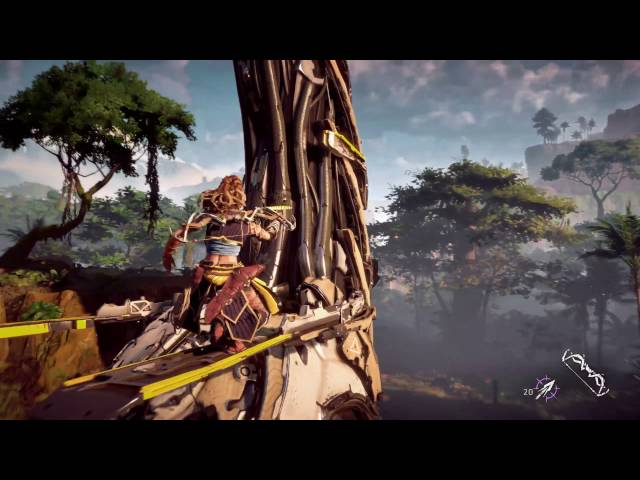 Horizon : Zero Dawn - Video de gameplay 4K - PS4 Pro
