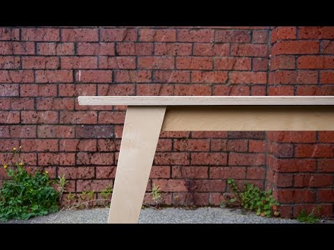 A Simple Modern Plywood Desk