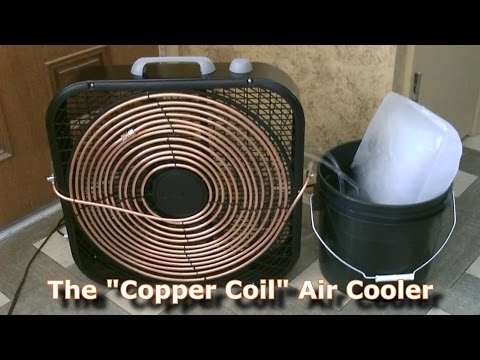"""Homemade AC - The """"Copper Coil"""" Air Cooler! - (Simple """"Box Fan"""" Conversion) - Easy DIY"""