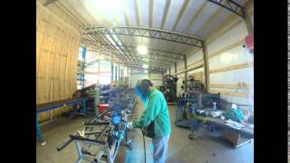 Steel Barn Truss Manufacturing Time Lapse Gopro  Pole Barn Trusses Easiest To Install