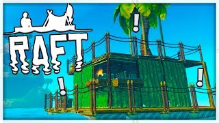 BUILDING THE EPIC ISLAND BASE - MINECRAFT MEETS ARK - RAFT SURVIVAL