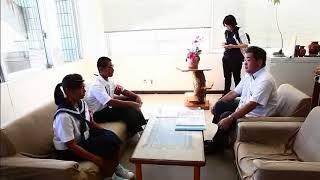 第56次豆記者が県八重山教育事務所へ取材報告